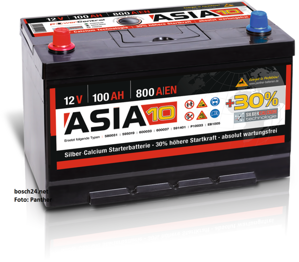 Starterbatterie Panther Asia10   100Ah
