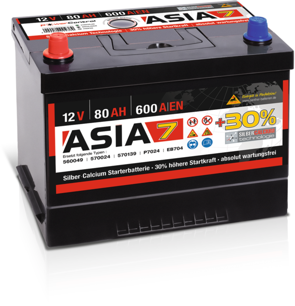 Starterbatterie Panther ASIA07   80Ah