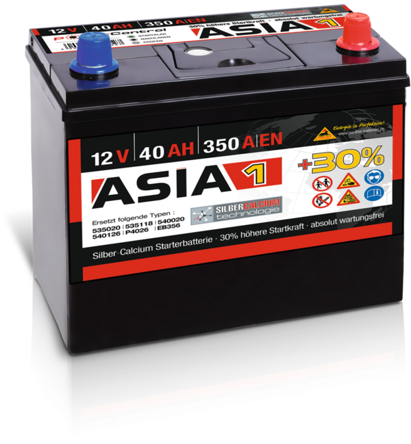 Starterbatterie Panther Asia01   40Ah