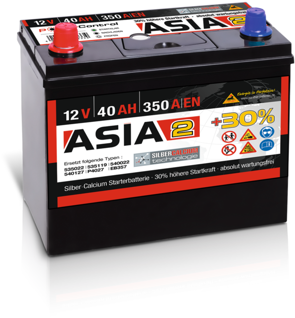 Starterbatterie Panther Asia02   40Ah