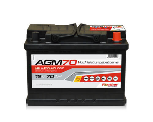 Autobatterie Panther AGM70   12V 70Ah