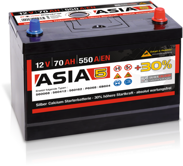 Starterbatterie Panther ASIA05   70Ah